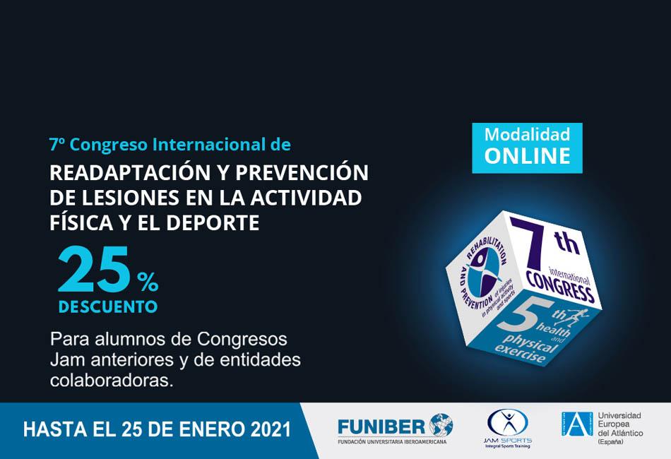 7º Congreso Internacional de Readaptación y Prevención de Lesiones en la Actividad Física y el Deporte