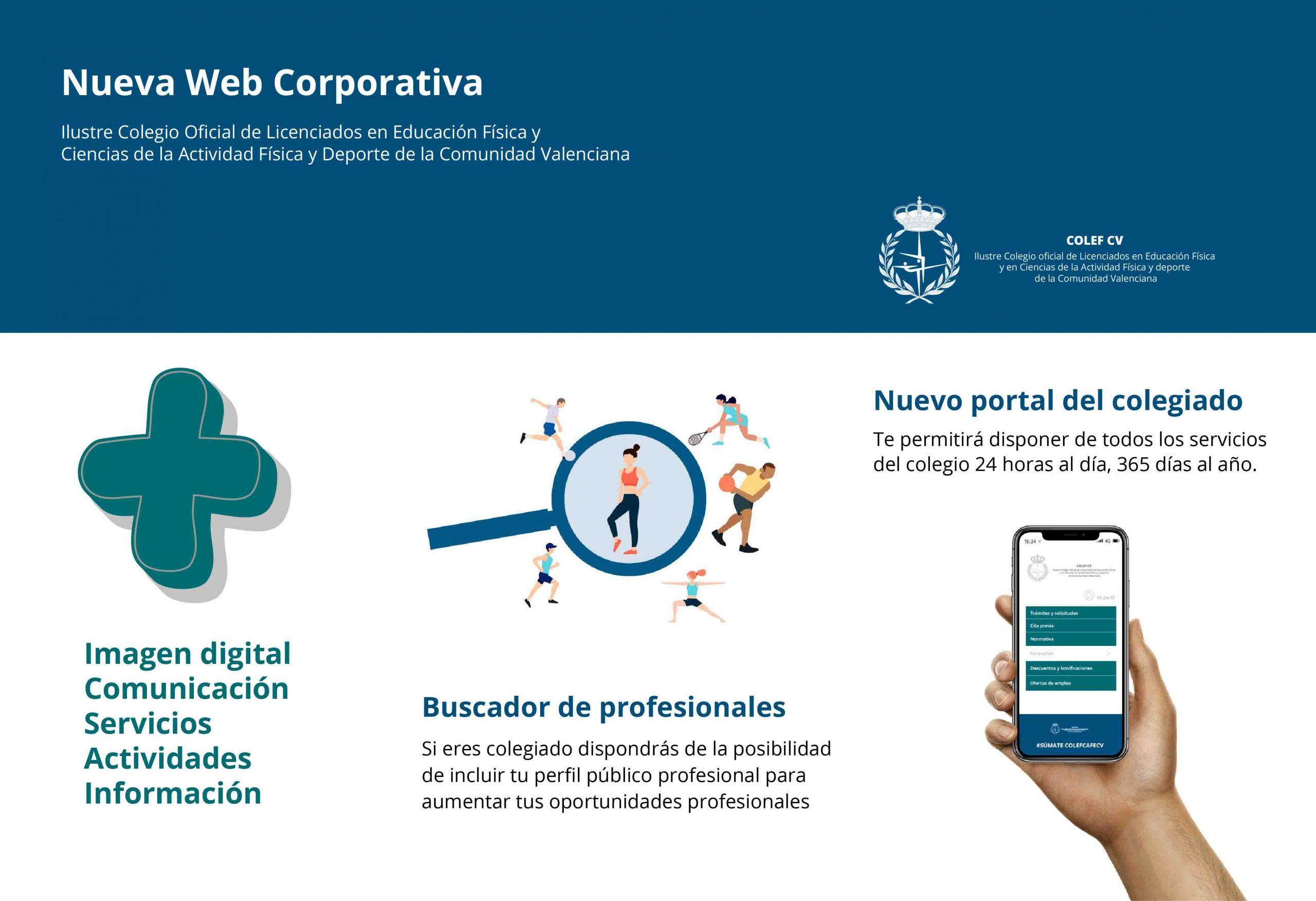 Nueva Web del COLEF CV   Presentación.